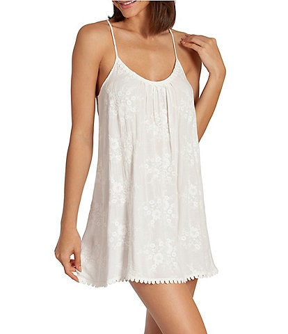 In Bloom by Jonquil Bird Song Embroidered Voile Chemise
