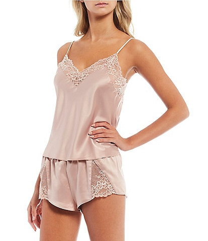 In Bloom by Jonquil Matte Satin & Lace Shorty Pajama Set