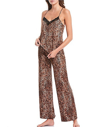 In Bloom by Jonquil On the Prowl Printed Knit Pajama Set