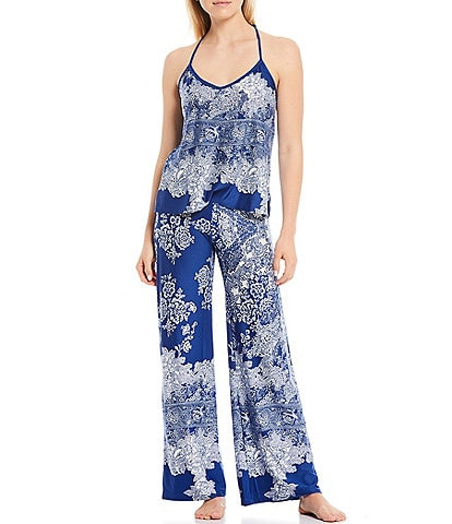 In Bloom by Jonquil Paisley Print Knit Pajama Set