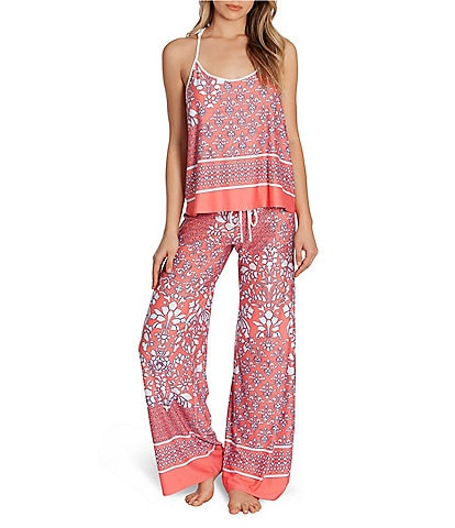 In Bloom by Jonquil Paisley-Printed Jersey Knit Pajama Set