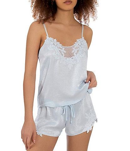 In Bloom by Jonquil Satin & Lace Shorty Pajama Set