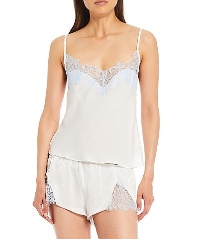 In Bloom by Jonquil Seagrass Shimmer Satin Camisole & Shorts Pajama Set