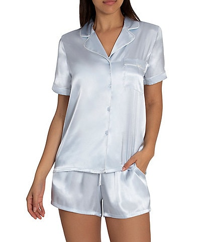 In Bloom by Jonquil Solid Satin Shorty Coordinating Pajama Set