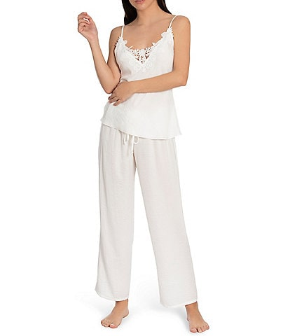 In Bloom by Jonquil Washed Satin Solid Cropped Pajama Set