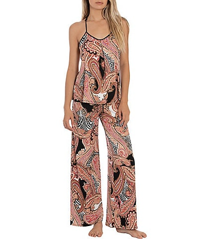 In Bloom by Jonquil Zebra Paisley Print Jersey Knit Pajama Set