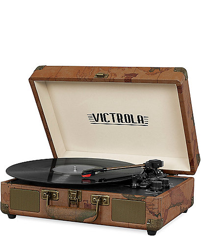 Innovative Technology Victrola Bluetooth Suitcase Record Player with 3-speed Turntable
