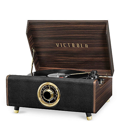 Innovative Technology Victrola's 4-in-1 Highland Bluetooth Record Player with 3-Speed Turntable with FM Radio