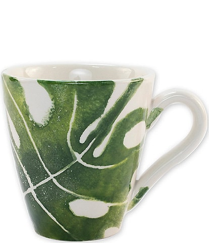 VIETRI Into the Jungle Monstera Leaf Mug