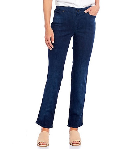 Intro Adrian Tummy Control Straight Leg Pull-On Denim Jeans