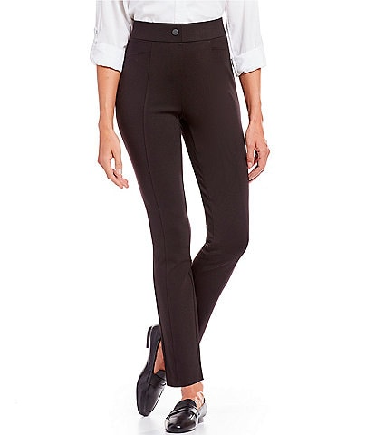 Intro Bella Solid Double Knit Slim Her Straight Leg Pants