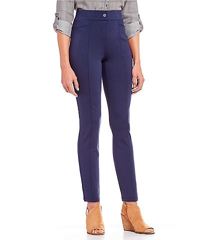a62651a944ad Intro Bella Solid Double Knit Slim Her Straight Leg Pants