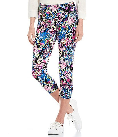 Intro Love the Fit Multi Tropical Print Capri Leggings