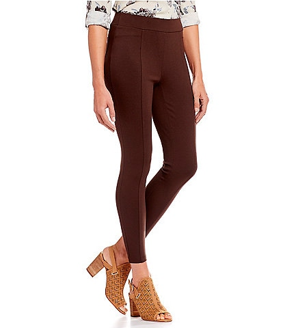 Intro Petite Size Bella Solid Double Knit Slim Her Leggings