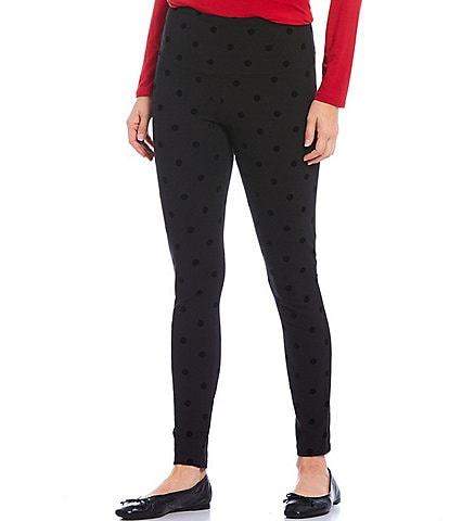Intro Petite Size Teri Love the Fit Tonal Dot Print Leggings