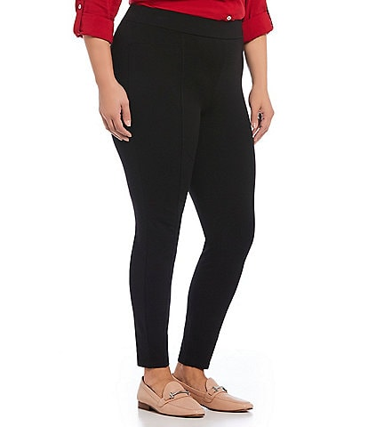 Intro Plus Size Bella Solid Double Knit Slim Her Leggings