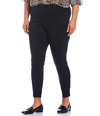 Intro Plus Size Laura Double Knit Pull-On Leggings
