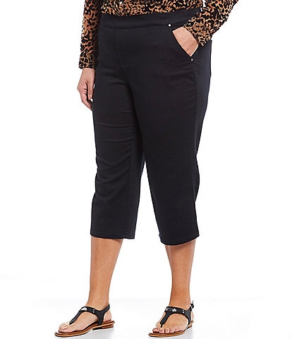 Intro Plus Size Rose Pull-On Capri