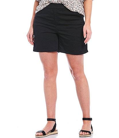 Intro Plus Size Rose Stretch Denim Shorts