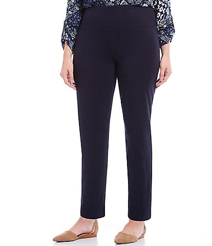 Intro Plus Size Teri Love the Fit Straight Leg Knit Leggings