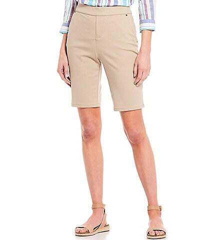 Intro Rose Tummy Control Pull-On Power Stretch Bermuda Shorts