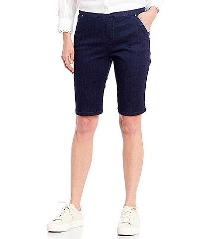 Intro Rose Tummy Control Pull-On Stretch Denim Bermuda Shorts