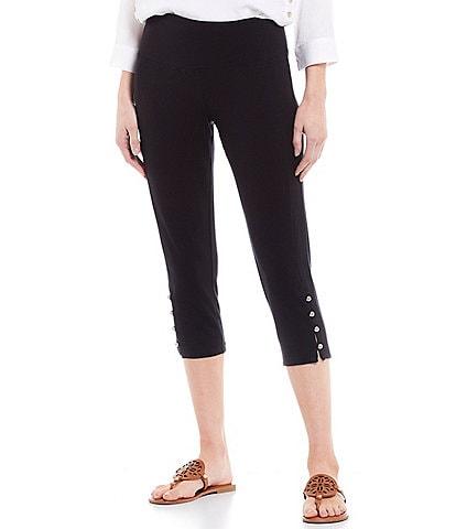 Intro Teri Love the Fit Button Hem Capri Leggings