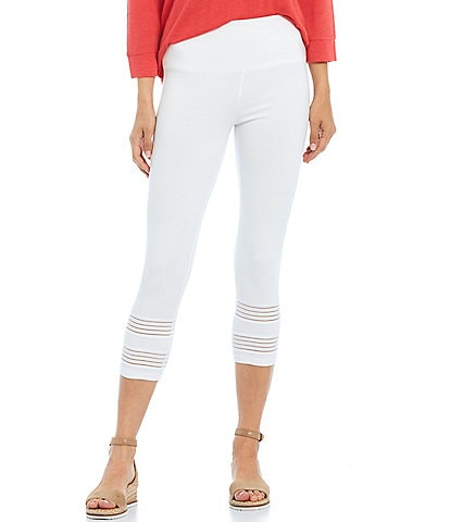 Intro Teri Love the Fit Elastic Trim Hem Capri Leggings