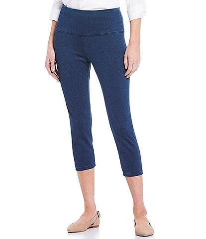 Intro #double;Teri#double; Love The Fit Knit Denim Twill Capri Leggings