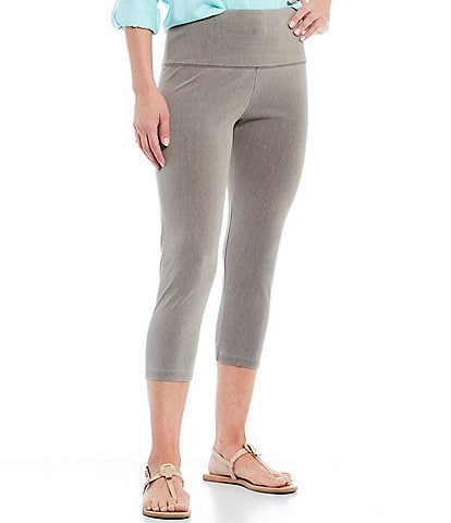 Intro #double;Teri#double; Love The Fit Knit Denim Twill Capri Leggings