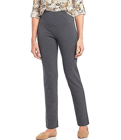 Intro Teri Love the Fit Straight Leg Knit Cotton Blend Pull-On Pants