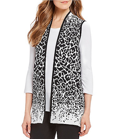 Investments Animal Print Sweater Vest