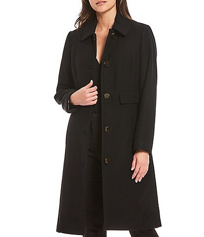Investments Classic Wool Blend Walker Coat