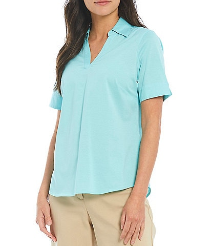 Investments Gold Label Short Sleeve Collared Top