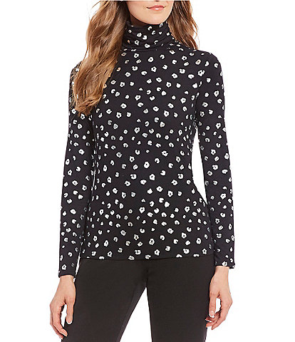 Investments Petite Size Essentials Long Sleeve Turtleneck Top