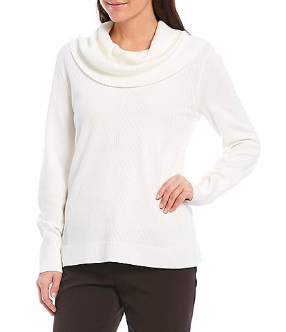 Investments Petite Size Long Sleeve Cowl Neck Sweater