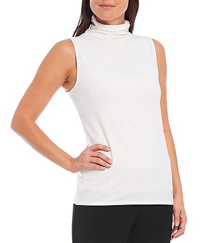 Investments Petite Size Sleeveless Mock Neck Top