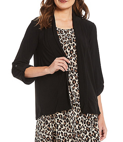 Investments Petite Size Soft Separates Long Sleeve Open-Front Jacket