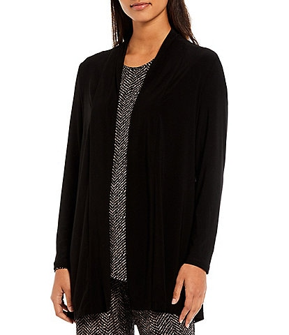 Investments Petite Size Soft Separates Long Sleeve Open Front Jacket
