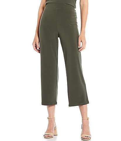 Investments Petite Size Soft Separates Pull-On Crop Pants