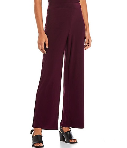 Investments Petite Size Soft Separates Pull-On Straight Leg Pants