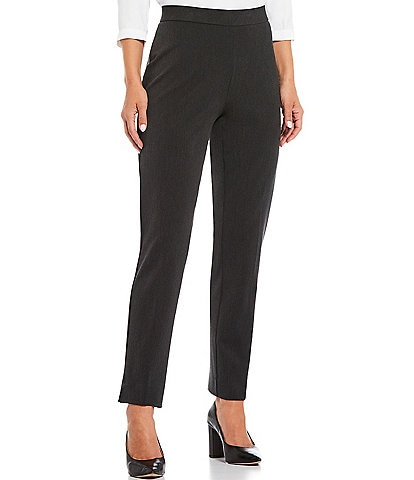 Investments Petite Size The 5th AVE Fit Side Zip High Rise Slim Leg Pants