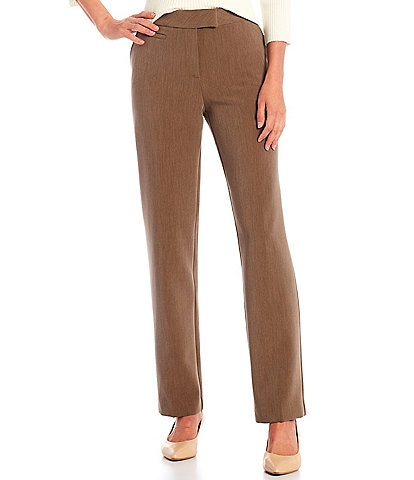 Investments Petite Size the 5TH AVE fit Straight Leg Non-Wrinkle Stretch Pants