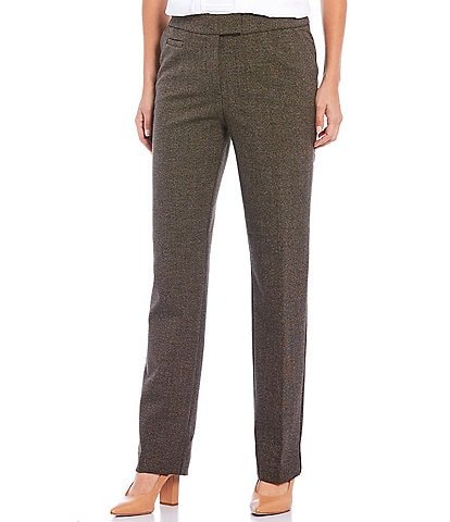 Investments Petite Size the 5TH AVE Fit Straight Leg Tweed Pants
