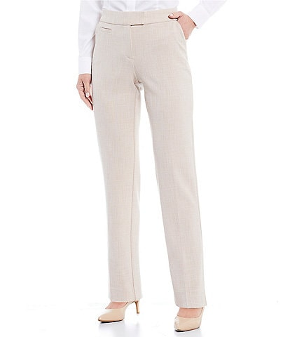 Investments Petite Size the 5TH AVE fit Textured Straight Leg Pants