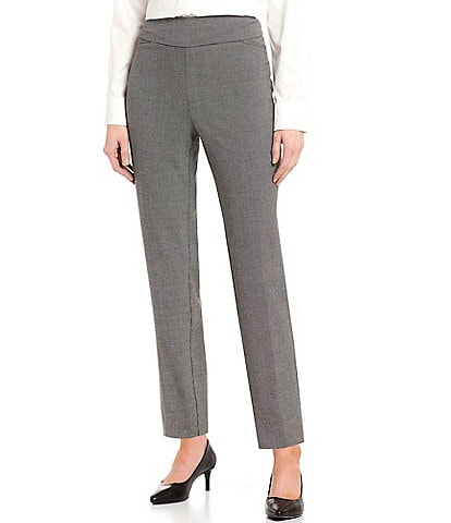 Investments Petite Size the PARK AVE fit Classic Ankle Dash Print Pant