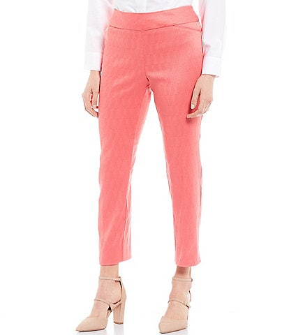 Investments Petite Size the PARK AVE Fit Novelty Pull-On Classic Ankle Pants
