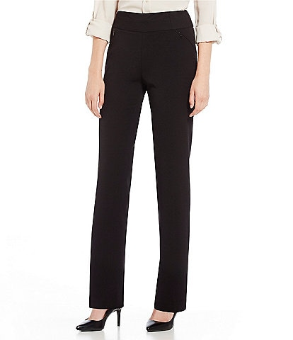 Investments Petite Size the PARK AVE fit Pull-On Straight Leg Pant with Pockets