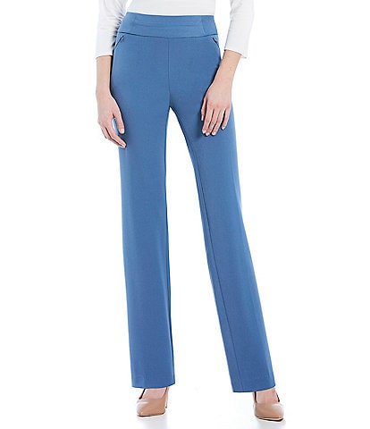 Investments Petite Size the PARK AVE fit Pull On Straight Leg Pant
