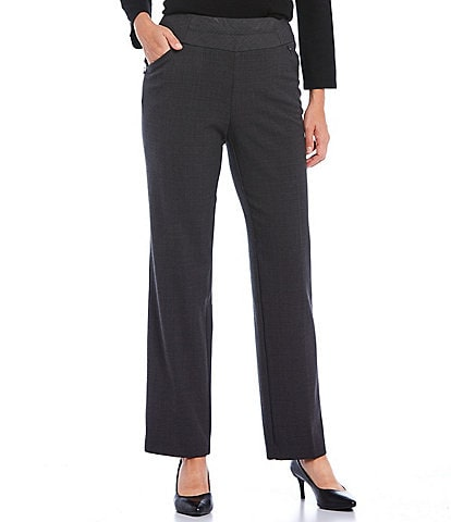 Investments Petite Size the PARK AVE fit Straight Leg Novelty Print Pull-On Pant with Pockets